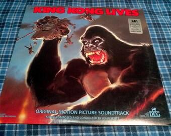 Vintage King Kong Lives Vinyl Record Album 1987 Original Motion Picture Soundtrack Audiophile Custom Pressed
