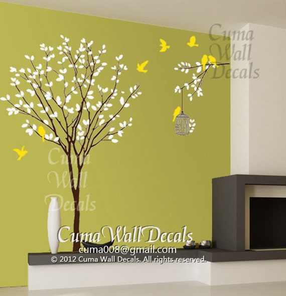 Awesome Wall Decor Tree Stickers Gallery - Wall Art Design ...