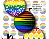 Digital Collage Sheet-Pride-1 Inch Circles-Stickers-Tiles-Pendants-Magnets-Buttons-Gay Pride-Equality-Rainbow-Gay Flag-Instant Download