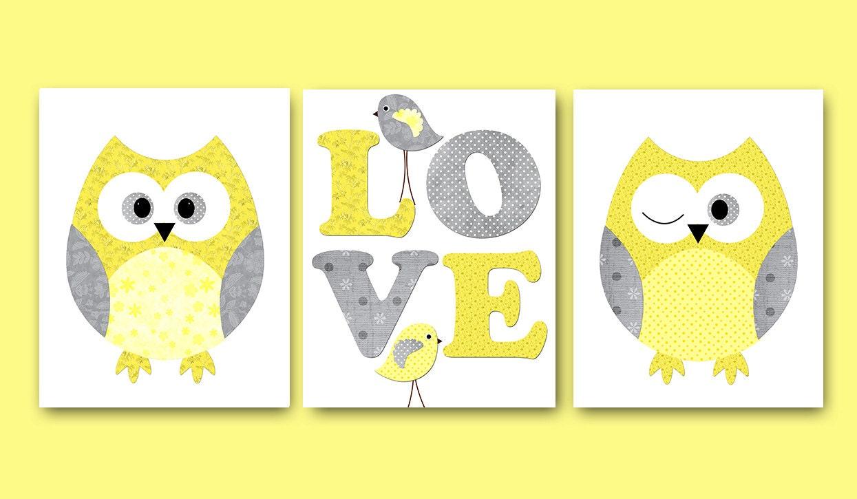 Art Décor: Kids Wall Art Owl Nursery Owl Decor Baby Nursery Decor Baby