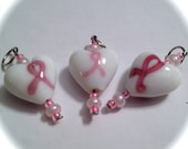 Pink Ribbons Stitch Markers