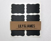 Set of 10 Elegant Chalkboard Vinyl Labels to Organize Your Home, Classroom or Office. Measures 2.5 x 1.75 Inches