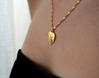 Heart necklace, gold filled necklace, gold necklaces, everyday necklace, 14k, charm necklace, valentine gifts, dainty necklace