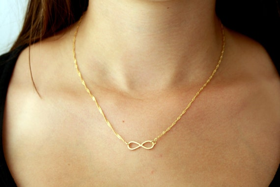 infinity gold necklace. like this item? infinity gold necklace c
