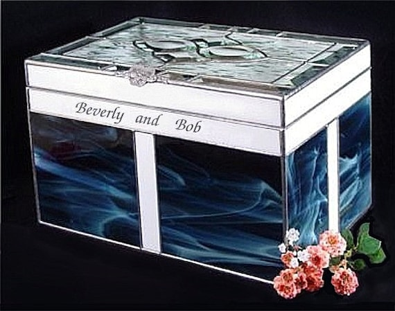 Adult Cremation #301H Beveled Cluster Top Companion Urn in Stained glass ( for 2 people )