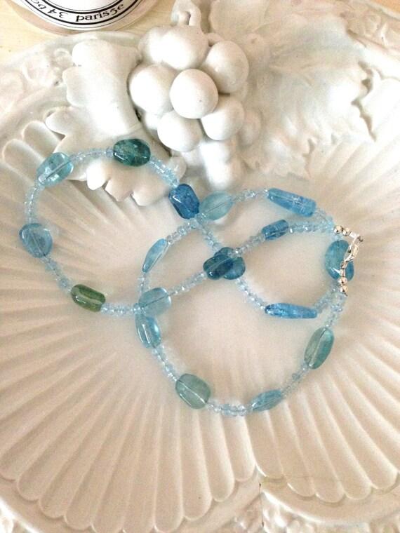 Lovely Aquamarine Large Polished Sea Blue Nuggets Gem by GemanI