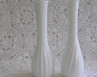 Milk Glass Bud Vases, DIY Wedding, Cottage Home Decor