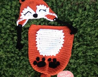 Adorable Newborn Woodland Fox Cocoon Set