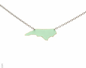 North Carolina Necklace, Mint Green