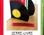 Serre livre - Bookend BUBU en vinyls vintage