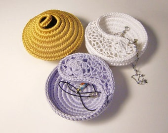 Popular items for crochet jewelry dish on Etsy