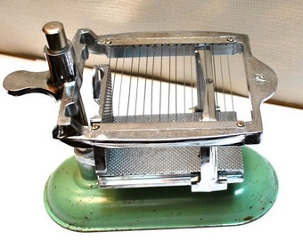 Vintage Commercial Green Enamel Cheese and Butter Slicer