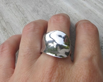 Geometric Silver Ring- Sterling Silver Rings- Modern RIngs- Contemporary Ring- Statement Rings- Chunky Ring- Rings- Silver Rings