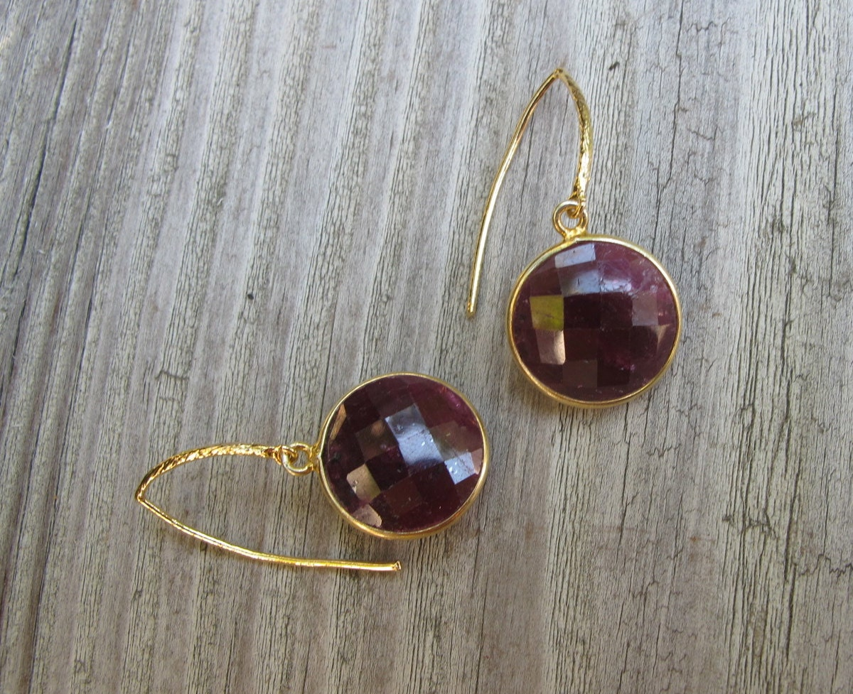 Ruby Earrings Dangle Earrings July Birthstone Earring Ruby