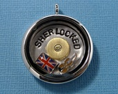 Sherlock Inspired - SHERLOCKED - A Floating Locket (Memory / Living Locket)