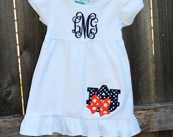 Auburn Tigers Monogrammed Football Dress