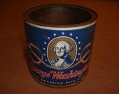 Vintage George Washington Great American Pipe Tobacco & Vintage Bond Street Pipe Tobacco Tins