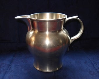 Crown and Rose cast Pewter English Pewter Jug or Pitcher