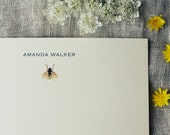Bee Personalized Note Cards Set of 24 Notecards With Envelopes