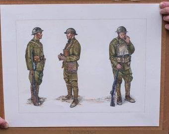 World War One Art - The US Army of World War I - Doughboys - Osprey Publishing Original Illustration