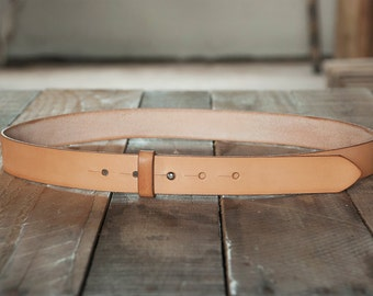 1.25 Inch Stud Button Leather Belt - Handcrafted in the U.S.A.