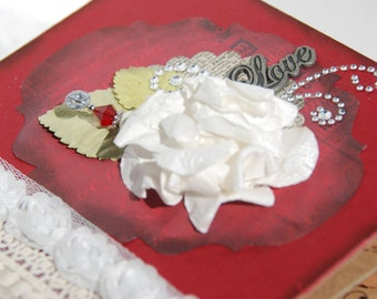 """Scrapbook Mini Album - Photo Album - Keepsake Album - """"Love"""""""