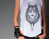 Large 'Lone Wolf 832F' Limited Edition cap-sleeved tee