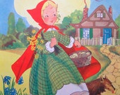 1945 RED RIDING Hood by Dorothy MAYS print ideal for framing