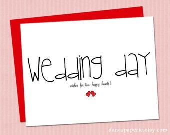 INSTANT PRINT Cute Wedding Card