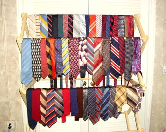 Vintage Mens Tie Grouping for Handcrafters/Quilters