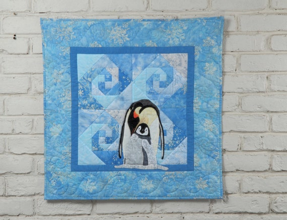 "Penguin Wall Quilt Pattern ""My Little Darling"""