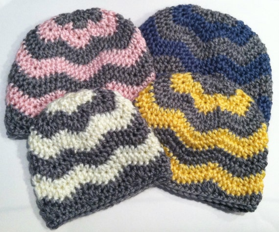 Crocheting Zig Zag Pattern : Crochet Pattern: Chevron Hat Zig Zag Hat by CrochetSorbet
