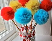 Reserved for Kim: Carnival Themed Pretti Pom Wands