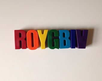 ROYGBIV Soy/Beeswax Crayons