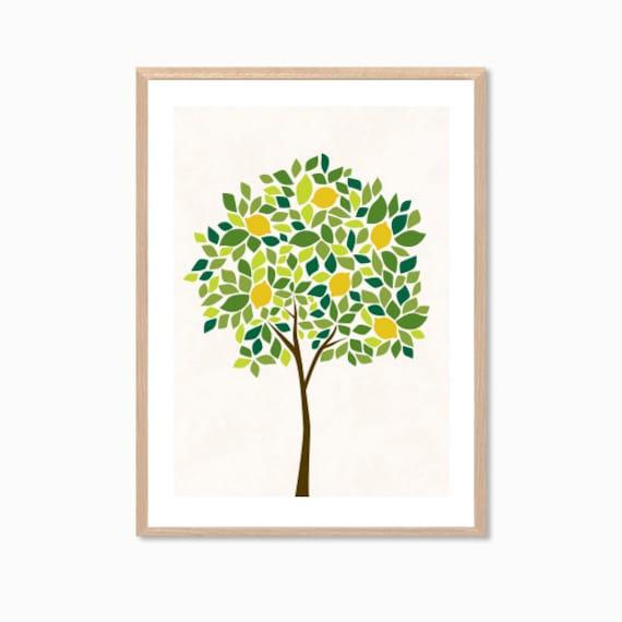 Lemon Tree Artwork Tree   Lemon Poster Modern