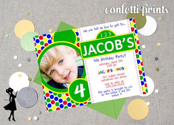 SESAME STREET Birthday Invitation / Photo Card Printable