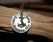 "Hope Anchors the Soul ~ on 20"" Stainless Steel Chain~ Hand Pounded~ ~ Will Not tarnish or Rust~ Hypo-Allergenic~"