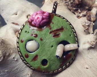 Clay Zombie Cameo Necklace