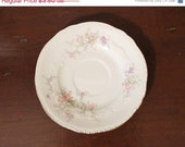 SALE 35% OFF Vintage Saucer -  Crown Potteries Pattern 841 Made in USA. F2