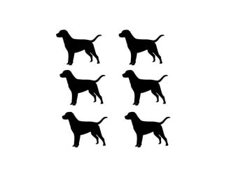 Labrador Retriever Dog Decal Stickers Laptop Decal Peel and Stick Set of 12 Small
