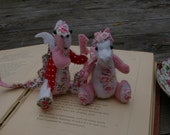 pattern Hand Embroidered tiny felt dragon and patchwork dragon patterns and instructions PDF