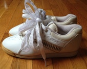 Deadstock LA Gear White Sneakers Size 6 1980s