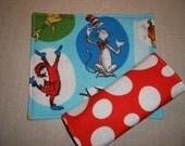Car Seat Strap Cover . Reversible . Dr. Seuss