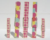 Memo Clip Decorative Clothespins/ Japanese Washi Tape