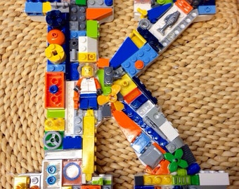 Custom wall letter, toy bricks,  K
