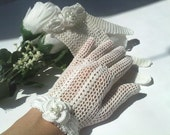 Wedding Gloves Victorian Style, Crochet Lace Gloves, Art Deco, Victorian Style Wedding