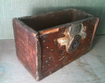 Antique Primitive Folk Tramp Art Box dated 1842