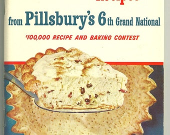 COLLECTIBLE Vintage CookBook PILLSBURY 1954 6th Grand Bake Off Cook Book