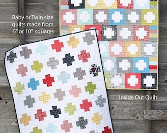 Cluck Cluck Sew Inside Out Quilt Pattern by Allison R. Harris in Two Variations