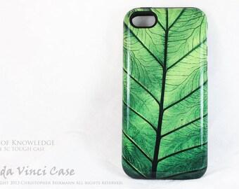 Apple iPhone 5c Case - Green leaf artwork - Leaf of Knowledge - Artistic case for iPhone 5c